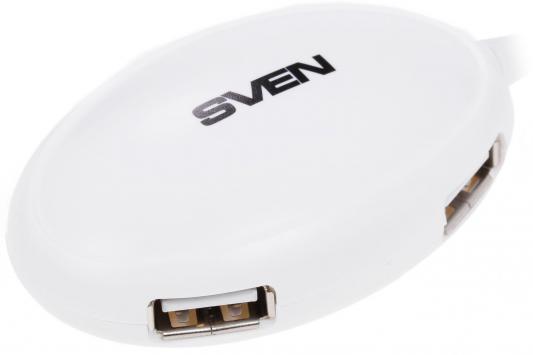 Концентратор USB Sven HB-401 4 порта USB2.0 белый