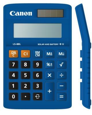 Калькулятор Canon LS-88L-BL 8 разрядов бухгалтерский синий