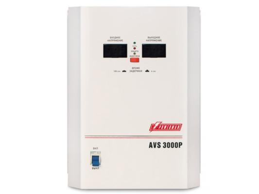 где купить Стабилизатор напряжения Powerman AVS 3000P белый 1 розетка дешево