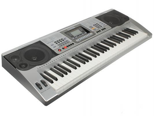 Синтезатор Tesler KB-6190 61 клавиша USB серебристый