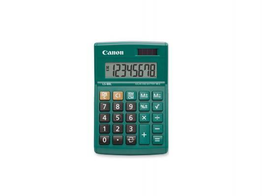 Калькулятор Canon LS-88L-DGR 8 разрядов бухгалтерский оливковый