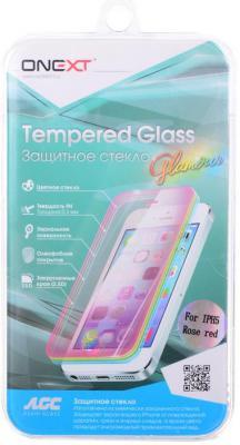 Защитное стекло Onext Rose Red для iPhone 5 iPhone 5S iPhone 5C 0.3 мм 40743