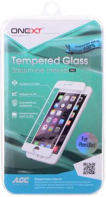 Защитное стекло Onext с черной рамкой 40935 для iPhone 6 0.3 мм