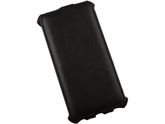 Чехол LP для Samsung G850F Galaxy Alpha раскладной кожа/черный R0005802