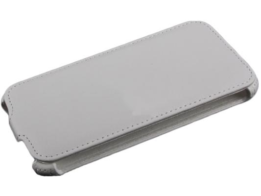 Чехол LP для Samsung G900F Galaxy S5 раскладной кожа белый R0005403