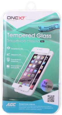 Защитное стекло Onext с белой рамкой для iPhone 6 0.3 мм 29020