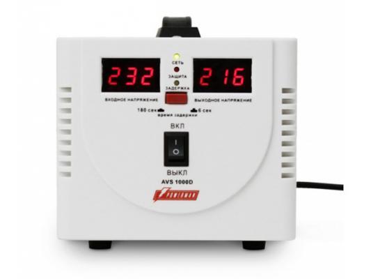 цена на Стабилизатор напряжения Powerman AVS 1000D белый 2 розетки