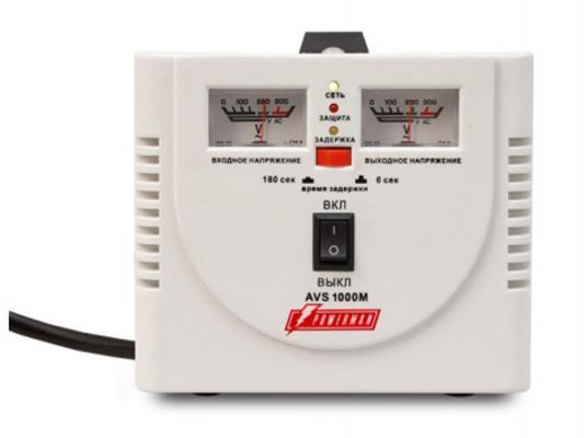Стабилизатор напряжения Powerman AVS 1000M белый 2 розетки
