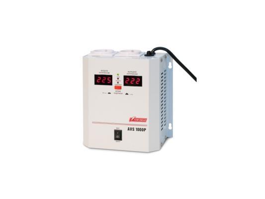 Стабилизатор напряжения Powerman AVS-1000P 1000VA белый