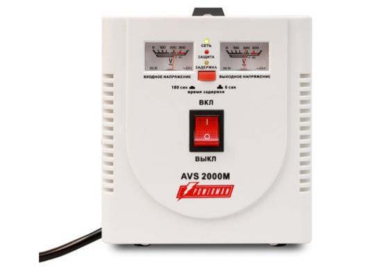 Стабилизатор напряжения Powerman AVS 2000M белый 2 розетки ибп стабилизатор powerman avs 2000m