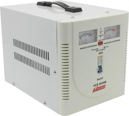 Стабилизатор напряжения Powerman AVS-5000M белый 1 розетка