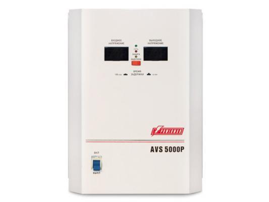 Стабилизатор напряжения Powerman AVS 5000P белый 1 розетка