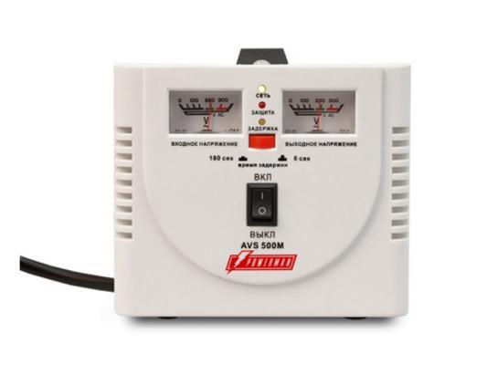 Стабилизатор напряжения Powerman AVS 500M белый 2 розетки lomon черный 500m