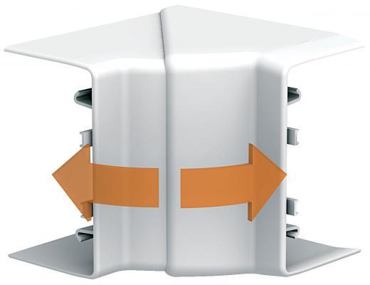 Угол короба Schneider Electric OptiLine внутренний 95х55мм ISM10201