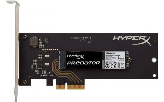 Твердотельный накопитель SSD M.2 480 Gb Kingston Predator PCIe Read 1100Mb/s Write 910Mb/s PCI-E SHPM2280P2H/480G kingston hyperx predator 480 gb ssd