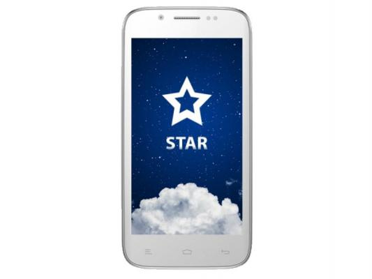 Смартфон KENEKSI Star 4.5'' 960x540 1.3GHz 4 Core 512MB RAM 4GB 8Mpix/1.3Mpix 2 Sim Android 4.2 White