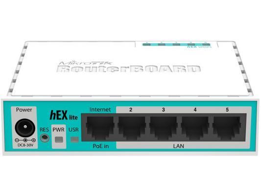 Маршрутизатор Mikrotik hEX lite 5x10/100 Mbps RB750r2 цена