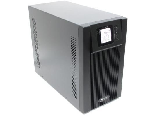 Источник бесперебойного питания Powerman Online 3000 3000VA Черный источник бесперебойного питания powerman online 3000 ва