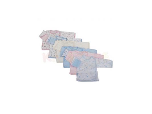 Распашонка Little me 0 мес. трикотажная на кнопке с ручками,розовая со звездами цены онлайн