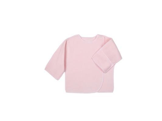 Распашонка Little me 0 мес. трикотажная на кнопке с ручками,розовая в горошек цены онлайн