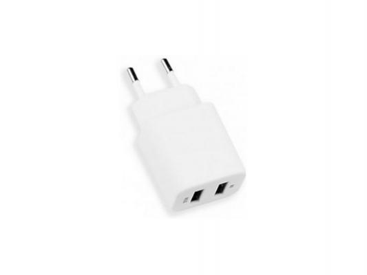 Сетевое зарядное устройство Deppa Ultra 2 USB 2.1A белый 11307 сетевое зарядное устройство deppa ultra 2 1a 2 usb дата кабель с разъемом 30 pin для apple белый