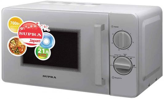 СВЧ Supra MWS-2103MS 21 л серебристый термопот supra tps 3016 730 вт 4 2 л металл серебристый