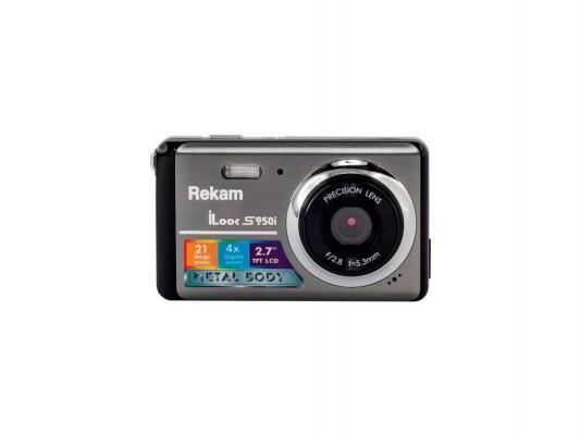"Цифровая фотокамера Rekam iLook S950i 21 Mpx 2.7"" LCD серый"