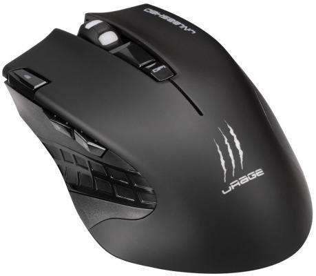 лучшая цена Мышь беспроводная HAMA uRage Unleashed чёрный USB 113733