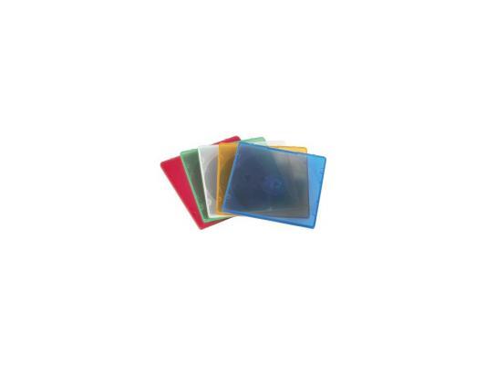 Коробка HAMA для 1 CD 5 цветов 20шт H-11712 коробка hama для 2 cd прозрачный 5шт h 44752