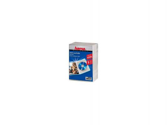 Коробка HAMA для 5 DVD пластик прозрачный H-83895 коробка hama для 2 cd прозрачный 5шт h 44752