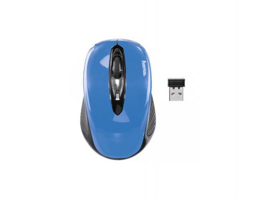 Мышь беспроводная HAMA АМ-7300 86566 голубой USB