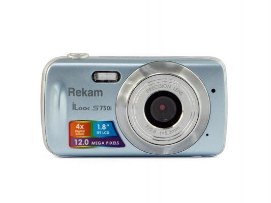 "Цифровая фотокамера Rekam iLook S750i 12 Mpx 1.8"" LCD серый"