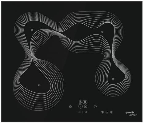 Стеклокерамическая варочная панель Gorenje ECT680KRB независимая сенсорное управление черный