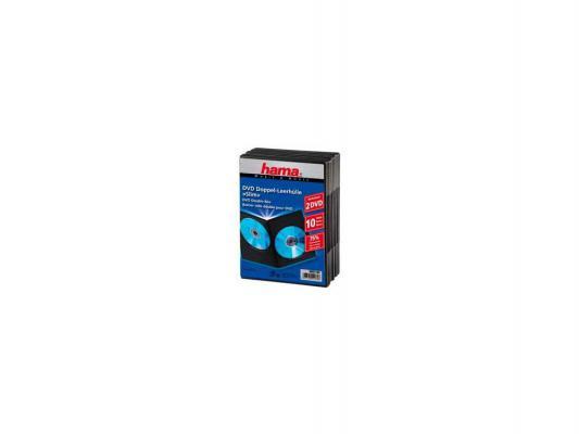 Коробка HAMA для 2 DVD пластик черный 10шт H-51184