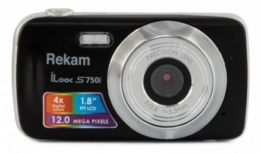 "Цифровая фотокамера Rekam iLook S750i 12 Mpx 1.8"" LCD черный"