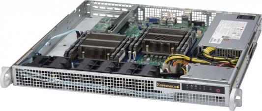 "Серверная платформа Supermicro SYS-6018R-MD 1U LGA2011-3 C612 8xDDR4 2x2.5"" 2xGigabit Ethernet 500Вт"