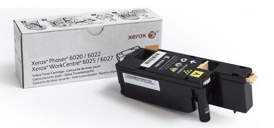 Картридж Xerox 106R02762 для Phaser 6020/6022/WorkCentre 6025/6027 желтый 1000стр картридж xerox 106r02762 phaser 6020 6022 workcentre 6025 6027 yellow print cartridge