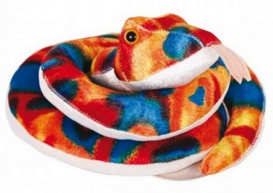 Мягкая игрушка Gulliver Змейка Пеструшка 27 см 21950901 цвет радуга мягкая игрушка змейка gulliver гулливер змей рэпер 23 см зеленый коричневый желтый плюш синтепон