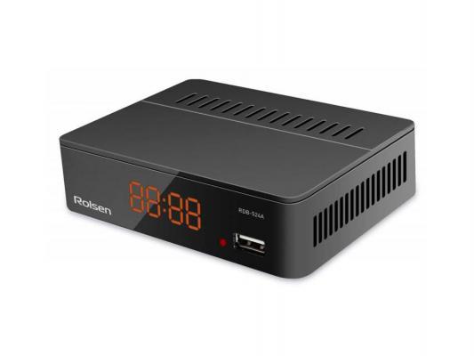 Тюнер цифровой DVB-T2 Rolsen RDB-524A черный