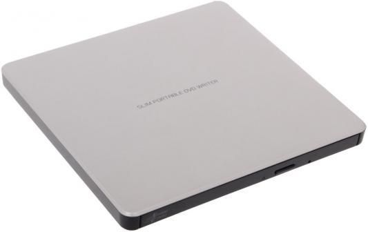 Внешний привод DVD±RW LG GP60NS60 USB 2.0 серебристый Retail