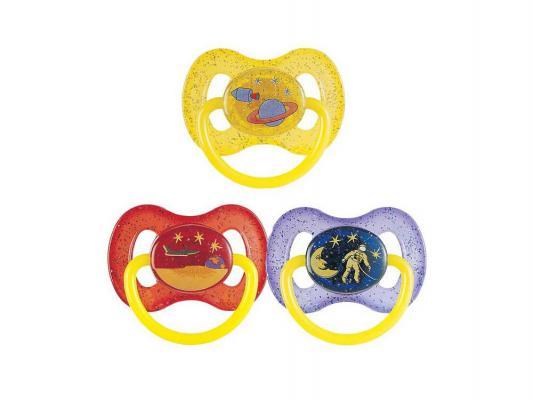 Купить Пустышка Canpol круглая Космос латекс анатомическая от 5 месяцев желтый 23\222, для девочки, для мальчика, Пустышки