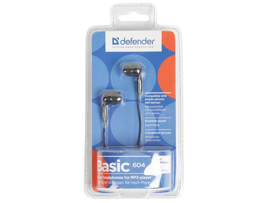 Наушники Defender Basic-604 черный 63604 defender basic 604 черный голубой 63608