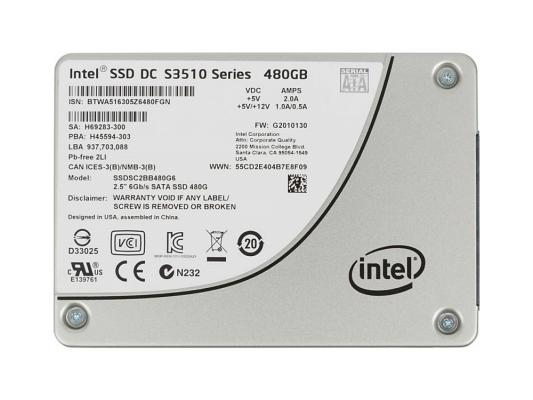 Жесткий диск SSD 2.5 480Gb Intel SATAIII SSDSC2BB480G601 941815 накопитель ssd intel ssdsc2kw480h6x1 480gb ssdsc2kw480h6x1
