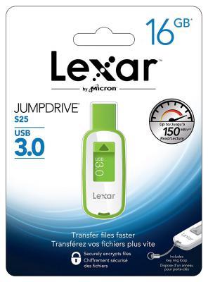 Флешка USB 16Gb Lexar JumpDrive S25 LJDS25-16GABEU бело-зеленый