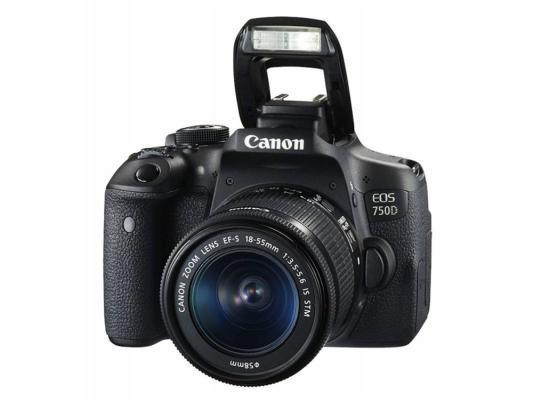 цена на Зеркальная фотокамера Canon EOS 750D Kit 18-55 IS STM 24Mp черный 0592C005