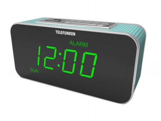 Часы с радиоприемником Telefunken TF-1503U зелено-голубой
