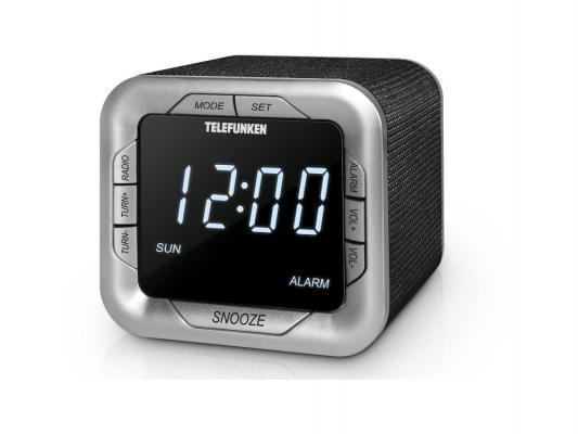 Часы с радиоприёмником Telefunken TF-1505 белый чёрный часы с радиоприёмником max cr 2909 серебристый чёрный