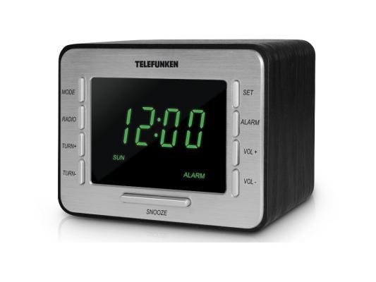 Часы с радиоприемником Telefunken TF-1508 черно-зеленый