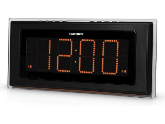 Часы с радиоприёмником Telefunken Telefunken TF-1541 чёрный оранжевый