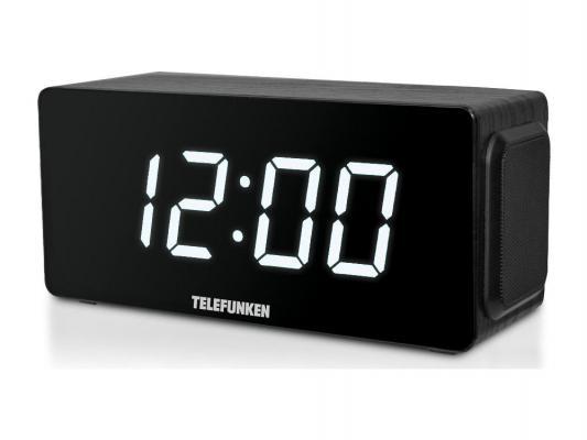 Часы с радиоприёмником Telefunken TF-1566U чёрный белый